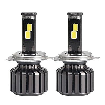 Amiley Automotive H4 LED Lights Bulbs , H4 9003 HB2 120W 10000LM LED Headlight Kit Hi/Lo Beam Bulbs 6000K
