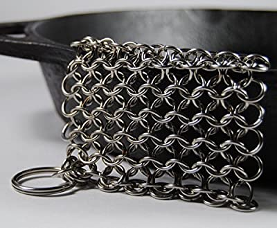 Knapp Made CM Scrubber - Stainless Steel Chain Mail Scrubber for Cast Iron Cookware