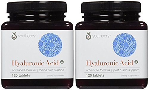 Youtheory Hyaluronic Acid Advanced Nutritional Supplement, 120 Count (2 Pack)