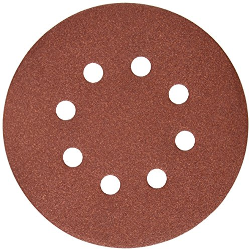 DEWALT DW4312 5-Inch 8 Hole 150 Grit Hook and Loop Random Orbit Sandpaper (25-Pack)