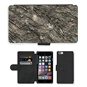 """Hot Style Cell Phone Card Slot PU Leather Wallet Case // M00153280 Stone Background Structure Texture // Apple iPhone 6 4.7"""""""