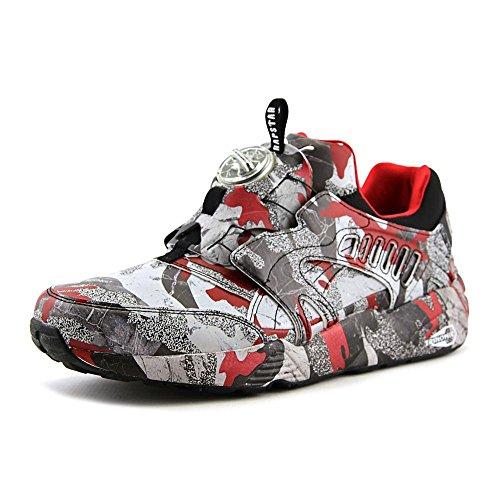 puma-disc-blaze-camo-x-trapstar-mens-green-textile-lace-up-sneakers-shoes
