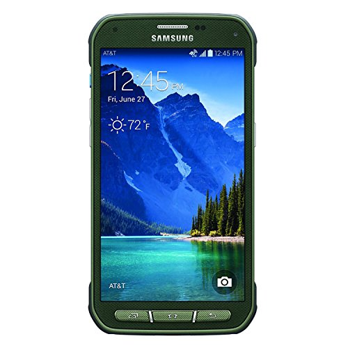 Samsung Galaxy S5 Active G870A 16GB AT&T Unlocked GSM 4G LTE Quad-Core Phone w/ 16MP Camera - Camo Green (Certified Refurbished)