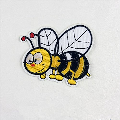 Bee Applique - Ximkee(10 Pack)Hard Working Bees Embroidered Sew Iron On Applique Patches