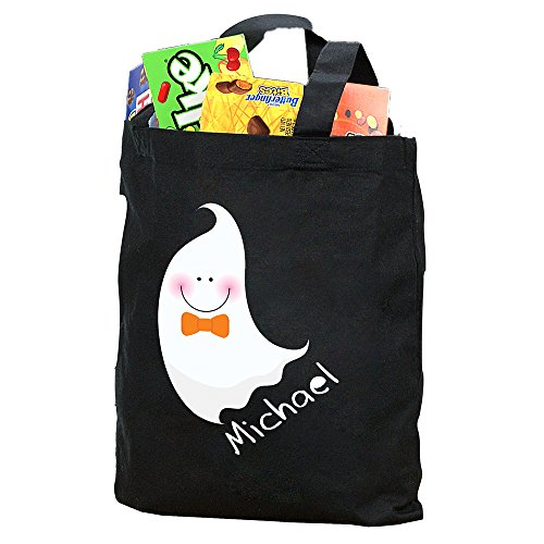GiftsForYouNow Halloween Ghost Personalized Trick or Treat Bag, Boy