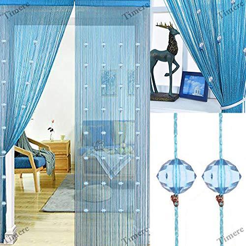 Timere Crystal Beaded Curtain Tassel Curtain - Partition Door Curtain Beaded String Curtain Door Screen Panel Home Decor Divider Crystal Tassel Screen 90x200cm]()