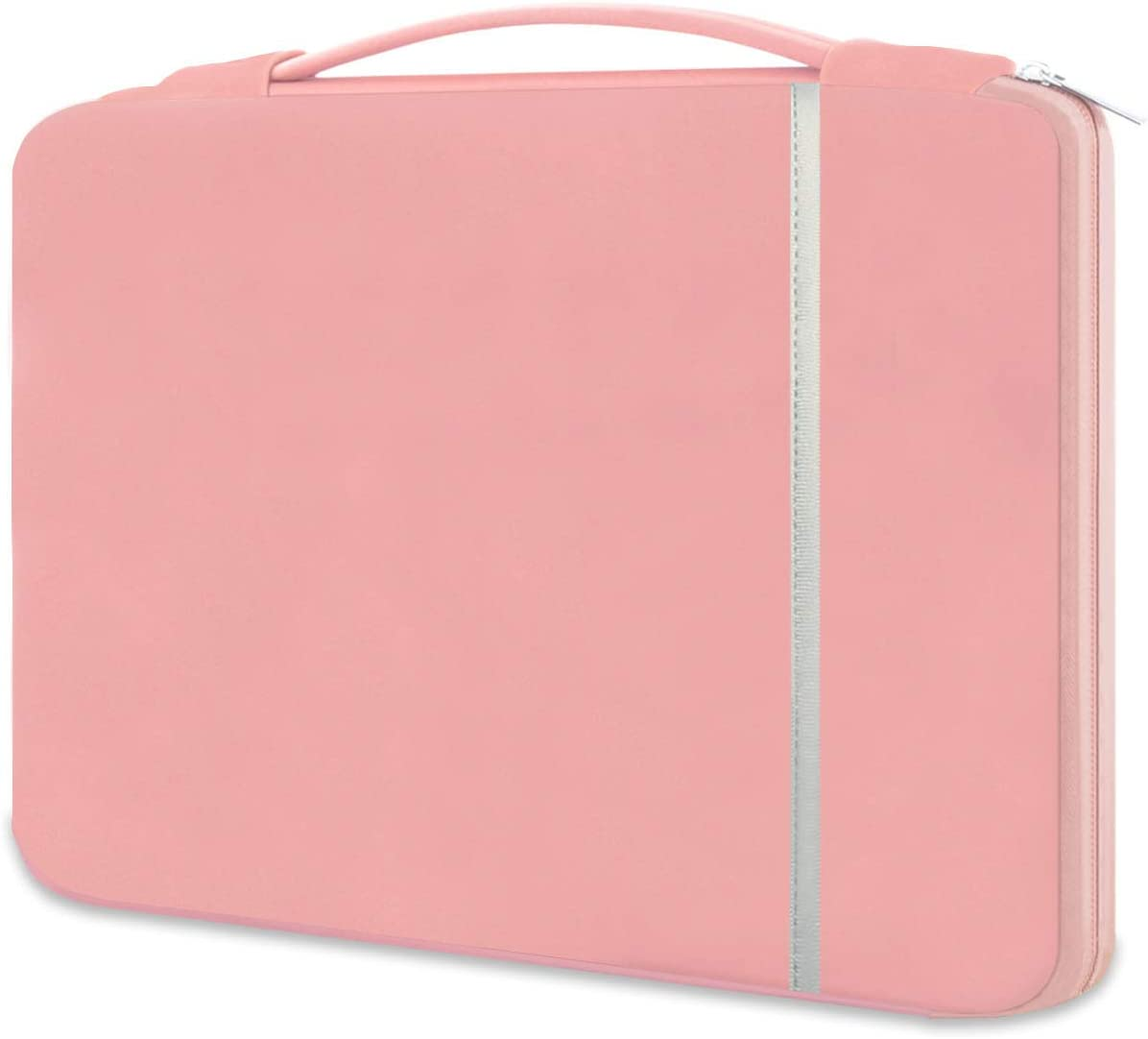 HESTECH Chromebook Case, 11.6-12.3 inch Neoprene Laptop Sleeve Case Bag Handle Compatible with Acer Chromebook r11/HP Stream/Samsung/Lenovo C330/ASUS C202/MacBook air 11/ Surface Pro3/Pro4,Rose Quartz