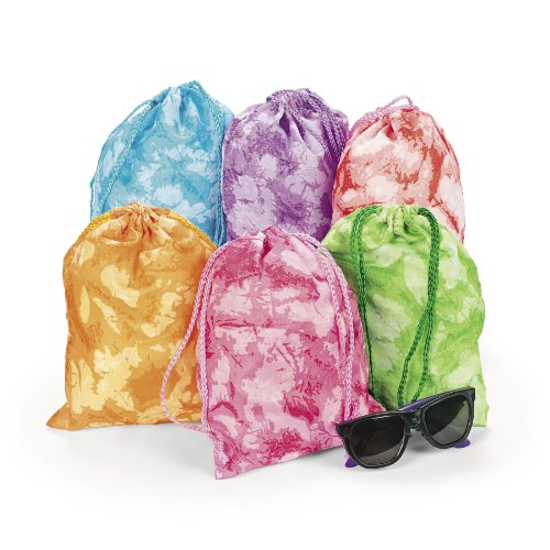 12 Tie dyed Drawstring Tote Bags product image