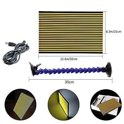 JMgist LED Stripe Line Board Paintless Dent Repair Tools Double Stripe Reflector Board PDR USB Line Board: Automotive