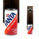 Wall Mounted Beer Bottle Opener With A Vintage Fanta Red Cream Soda Can Cap Catcher