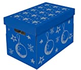 Nips Christmas Storage Box for Baubles/ Decorations with Variable Inner Dividers on 3 Levels - Multicoloured