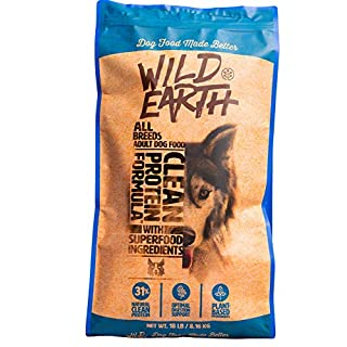 Wild Earth Healthy High-Protein Formula Dry Dog Food with No Filler Ingredients, Veterinarian-Developed Vegan Pet Food for All Adult Dog Breeds (18-Pound Bag)