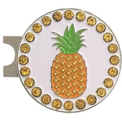 Giggle Golf Bling Pineapple Golf Ball Marker With A Standard Hat Clip
