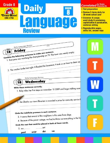Daily Language Review, Grade 8 (Evan Moor Daily Language Review)