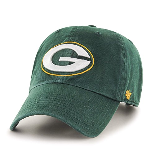 Green Bay Packers Apparel (NFL Green Bay Packers '47 Clean Up Adjustable Hat, Dark Green, One)