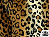 leopard upholstery fabric - 1 X Velboa Faux / Fake Fur Leopard GOLD Fabric By the Yard