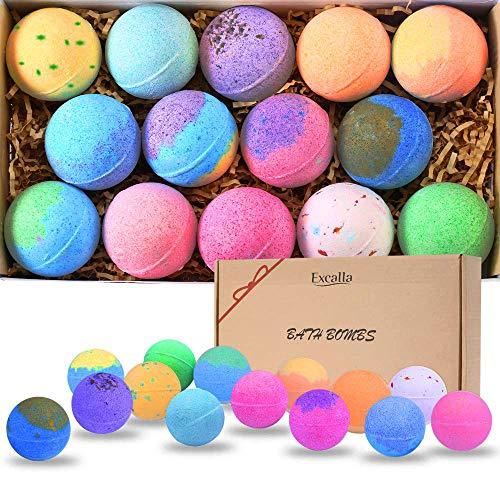 (Bath Bombs Gift Set 14 - Lush Bubble Bath Fizzies Natural Vegan Essential Oil Bubble & Spa Bath Fizz Balls Kit Handmade Bathbombs for Women/Men/Kids/Boys/Girls Dry Skin Moisturize, Birthday Gift)