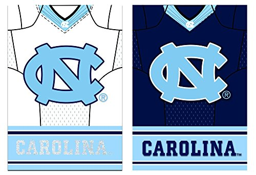 Team Sports America North Carolina Tarheels Double Sided Jersey Suede Garden Flag, 12.5 x 18 inches