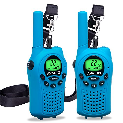AVALID Walkie Talkies for kids, 22 Channel FRS/GMRS Long Range 5KM Two-Way Radios with Free Straps, Ultra-Long Standby/Back-lit LCD Screen Radio Walkie for Indoor/Outdoor Activities ( Pair,blue ) - All Spiderman Costumes Names