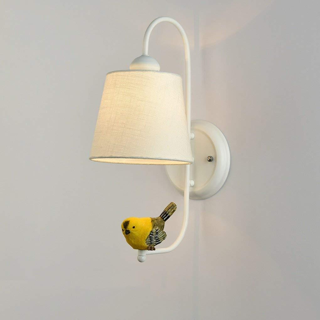 Xiao Fan    Nordeuropa Modernes minimalistisches Schlafzimmer Nachtwand Wandleuchten Creative Birdie Wohnzimmer Gang Treppenleuchten E27 Nachttischlampe (Farbe    3)