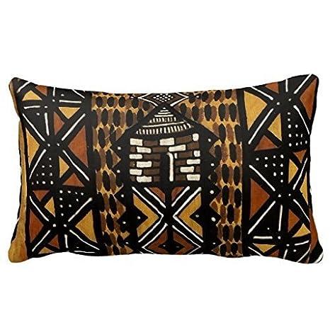 Amazon Tribal Gift African Art Print Throw Pillows 40% Cotton Cool Macy's Decorative Throw Pillows