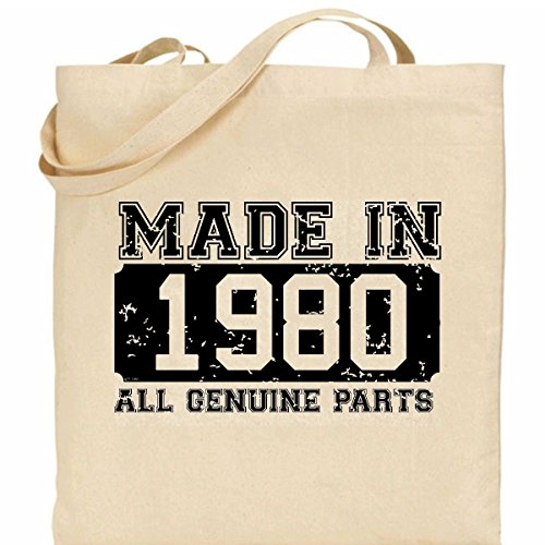 100 design Bag in Cotton Made present 1980 retro ideal 7OzqyZx