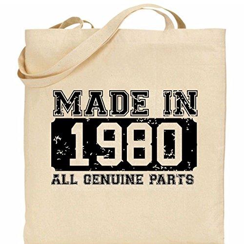 ideal design retro Cotton 100 in present Made 1980 Bag 6qXnRw