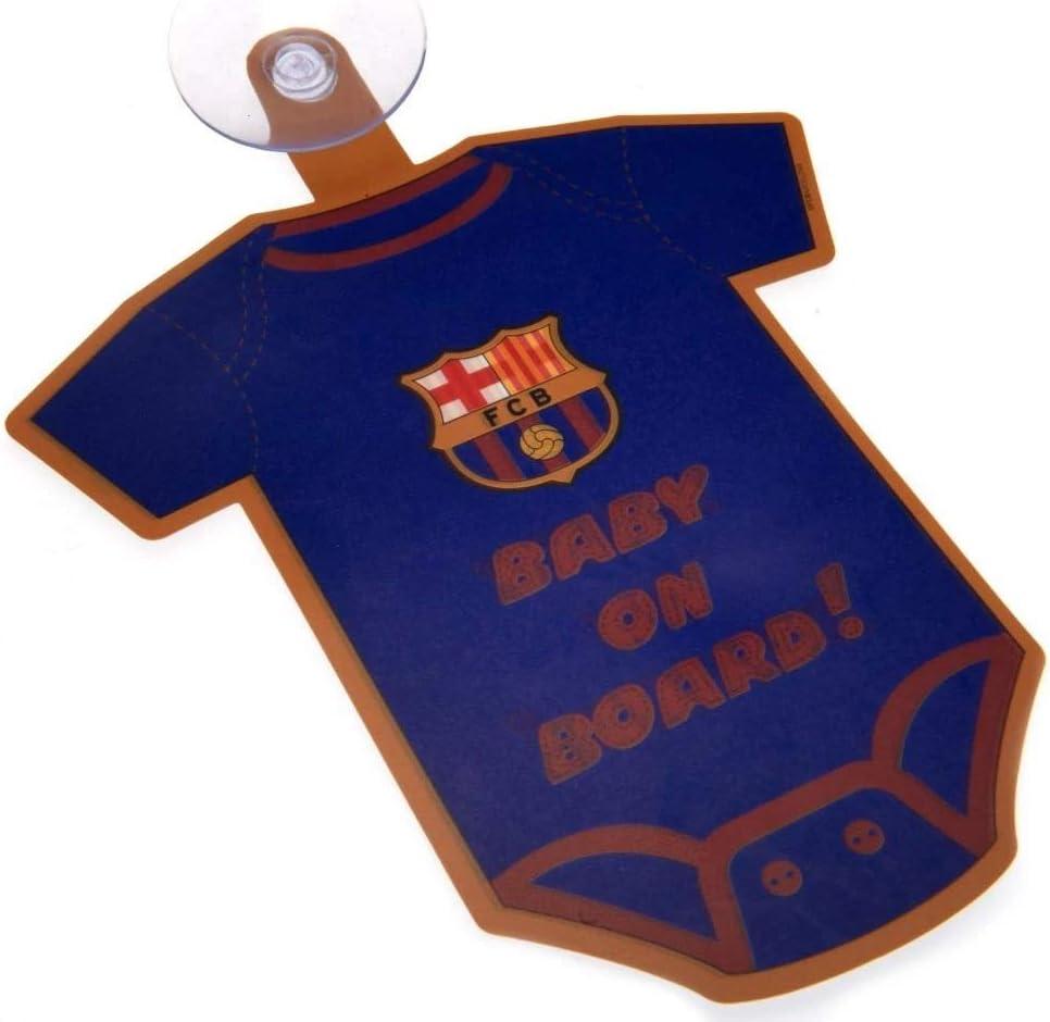 Fc Barcelona Football Kit Baby On Board Sign Car Window