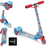 My Baby EXCEL Skate Scooter for Kids (PAW Patrol PUPS Skate Scooter for Kids with 3 Wheels and 3 Position Adjustable Height)