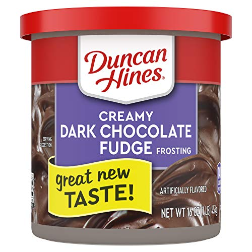 Duncan Hines Creamy Dark Chocolate Fudge Frosting, 8 - 16 OZ Cans