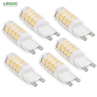 Leduni Bombilla LED G9 5W mejor precio+grantia 2año (PACK 5, LUZ CALIDO)
