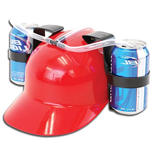 Hands Free Beer Drinking Hat Womens Men Plastic Straw Party Soda Lazy Cap New