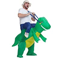 FSMY Inflatable Dinosaur Halloween Costume Fancy T-REX Party Dress Props Adult