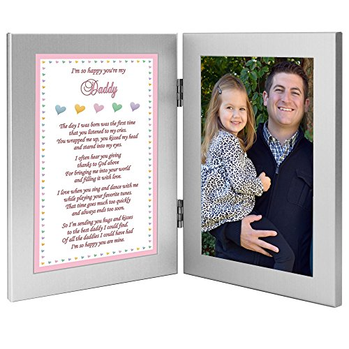"Daddy's Girl ""i'm So Happy You're My Dad"" Gift From Daughter To Father - Add Photo To Frame"