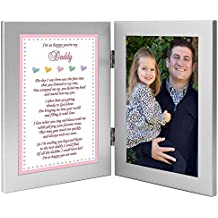 """Daddy's Girl """"I'm So Happy You're My Dad"""" Gift from Daughter to Father - Add Photo to Frame"""