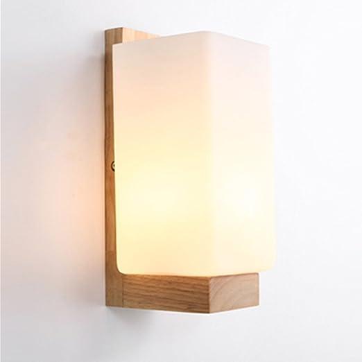 Applique Murale Lampe Murale Scandinave En Bois Style Simpe Pour
