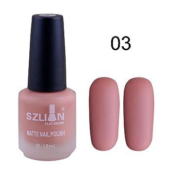 Amazon.com: Dingji 18ml Fast Dry Matte Dull Nail Polish Lasting Nail ...
