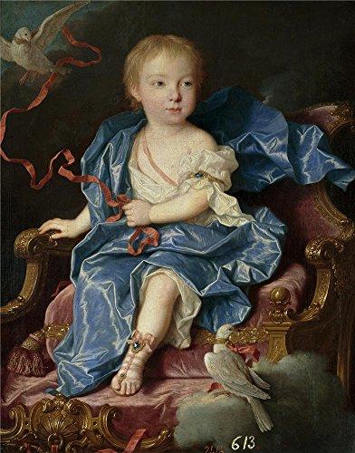 Oil Painting 'Ranc Jean Maria Antonia Fernanda De Borbon Infanta De Espana (futura Reina De Cerdena) Ca. 1731' 24 x 31 inch / 61 x 78 cm , on High - Premium Outlets Angeles Los Ca
