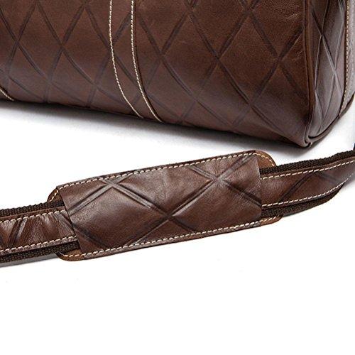 Super GTUKO Para Retro Vaca Vintage Bolso Patchwork Hombres De Viaje Large De negro Casual Leather Bolso Café Genuine wgt0Ex