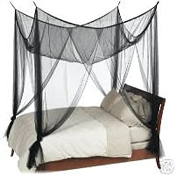 Octorose ® 4 Poster Bed Canopy Netting Functional Mosquito Net Full Queen King (Black)  sc 1 st  Amazon.com & Amazon.com: Octorose ® 4 Poster Bed Canopy Netting Functional ...