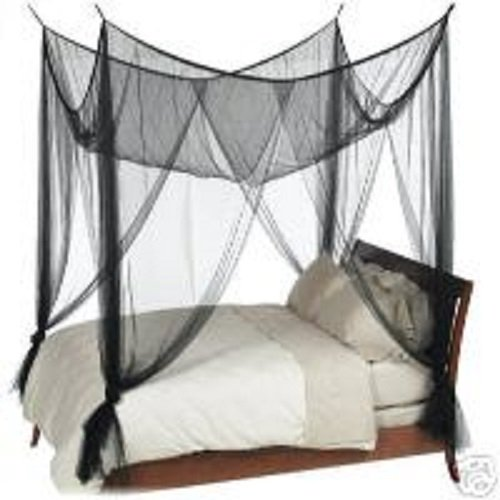 OctoRose Black 4 Poster Bed Canopy Net Full Queen King ()