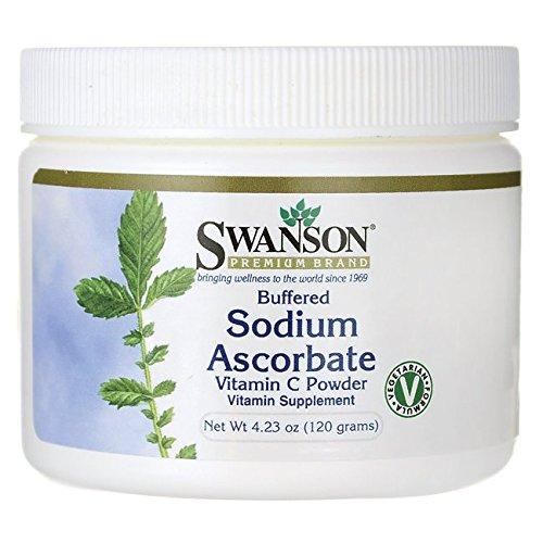 Swanson Buffered Sodium Ascorbate Vitamin C Powder 4.23 Ounce (120 g) Pwdr