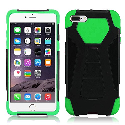 iPhone 8 Plus Case / iPhone 7 Plus Case - ZV Hybrid Turbo Cover [Heavy Duty Dual Layer Rugged Shell] Phone Protective Case w/ Kickstand