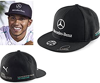 puma mercedes amg petronas f1 2014 black flat brim lewis. Black Bedroom Furniture Sets. Home Design Ideas