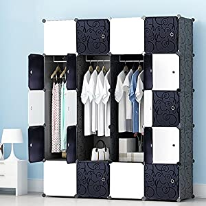 JOISCOPE PREMAG Portable Wardrobe for Hanging Clothes, Combination Armoire, Modular Cabinet for Space Saving, Ideal…