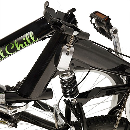 "New 26"" Folding 6 Speed Mountain Bike Bicycle School Sport Black Shimano Parts"