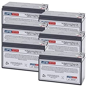 12V 8Ah SLA Battery Replacement for Eagle Cuda 250 S/Map GPS - 6 Pack