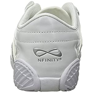 Nfinity Adult Evolution Cheer Shoes, White, 9