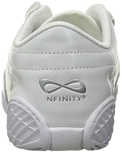Nfinity Adult Evolution Cheer Shoes, White, 8.5 by Nfinity (Image #2)