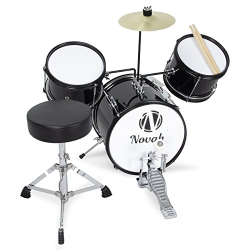 novah-premium-3-piece-kids-jr-junior-drum-set-throne-cymbal-drumstick-pedal-and-stool-black